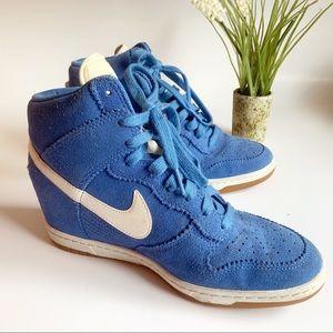 Nike Sky Hi Wedge Blue Size 9